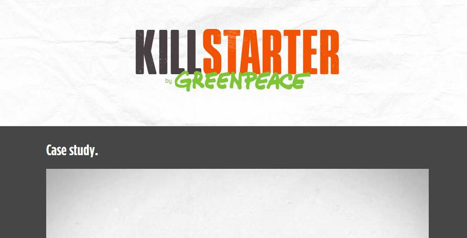 Nominee - Greenpeace vs. Killstarter