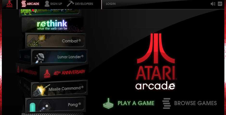 2014 Webby Winner - Atari Arcade