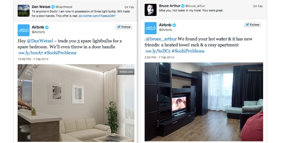 Webby Award Nominee - AirBnb/#SochiProblems
