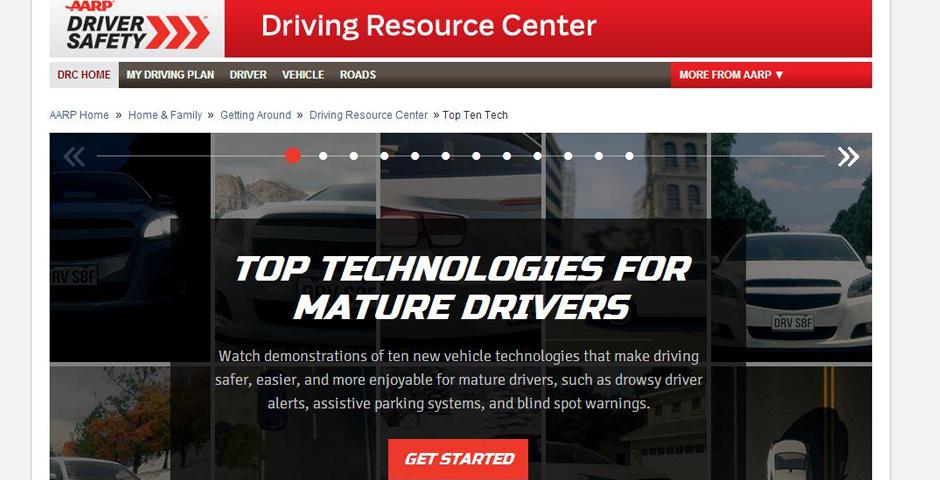 2014 Webby Winner - AARP Top Ten Technologies for Mature Drivers