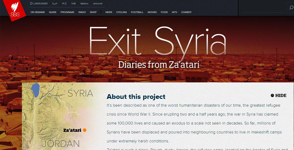 Nominee - Exit Syria – Diaries from Za'atari