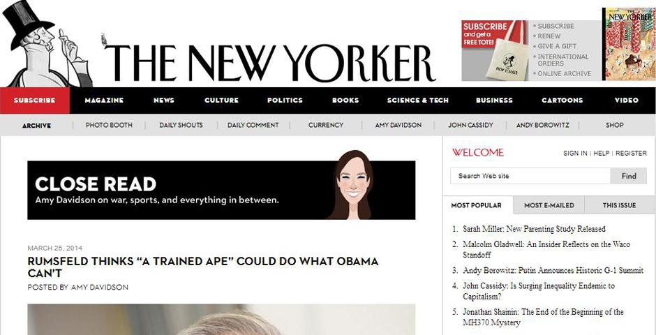 Webby Award Nominee - The New Yorker\'s Close Read blog