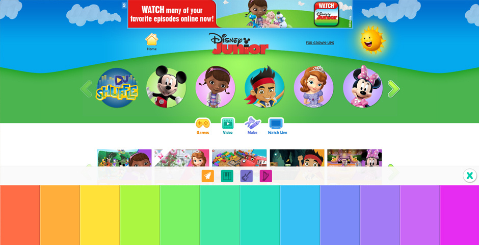Webby Award Nominee - DisneyJunior.com