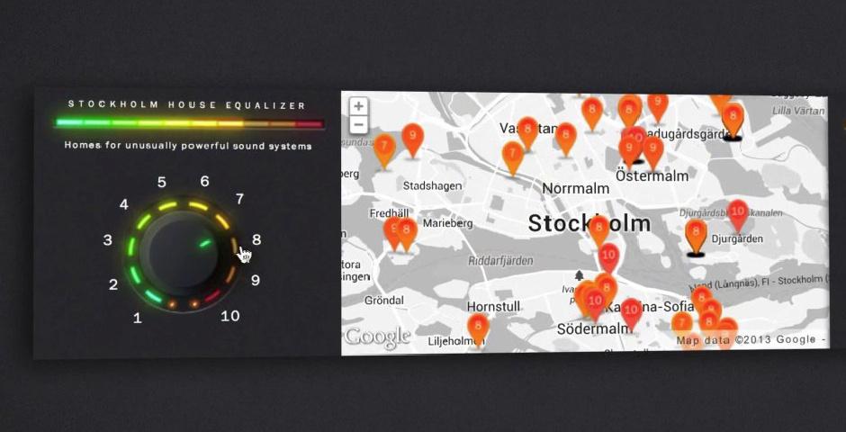 Webby Award Nominee - Stockholm House Equalizer Banner