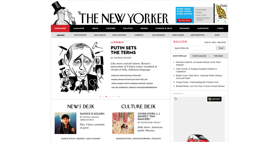 Webby Award Winner - The New Yorker