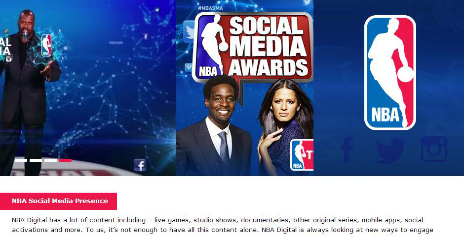 Webby Award Nominee - NBA Digital