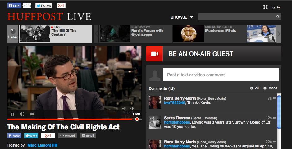 Webby Award Winner - HuffPost Live