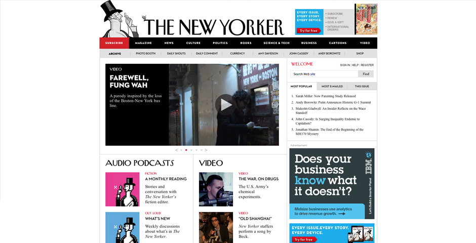 Webby Award Winner - Newyorker.com's Podcasts