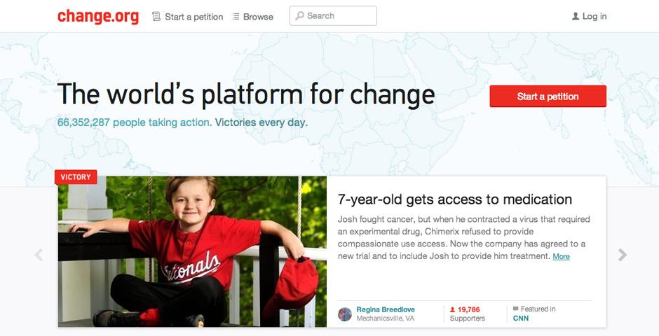 2014 Webby Winner - Change.org
