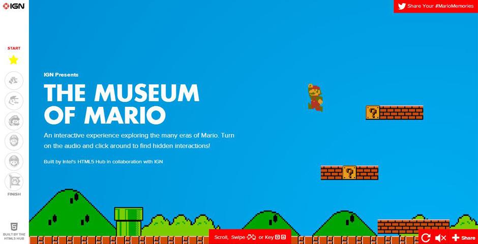Webby Award Nominee - Museum of Mario