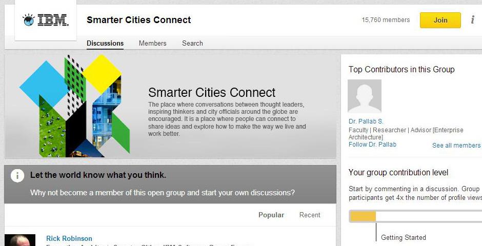 2014 Webby Winner - Smarter Cities Connect