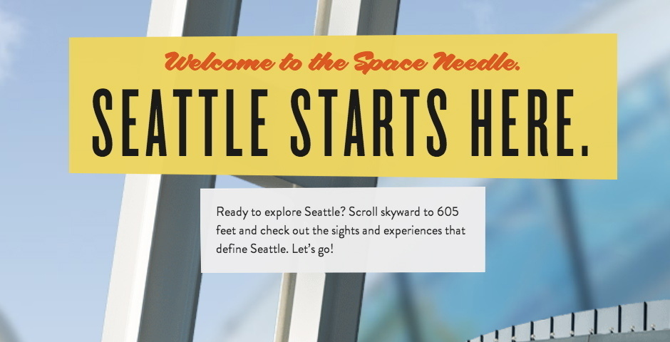 Webby Award Nominee - The Space Needle Website