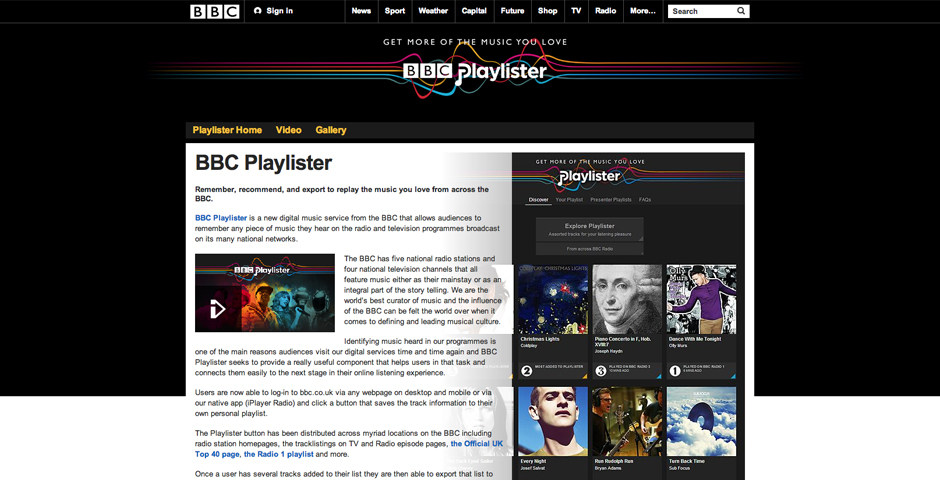 Nominee - BBC Playlister