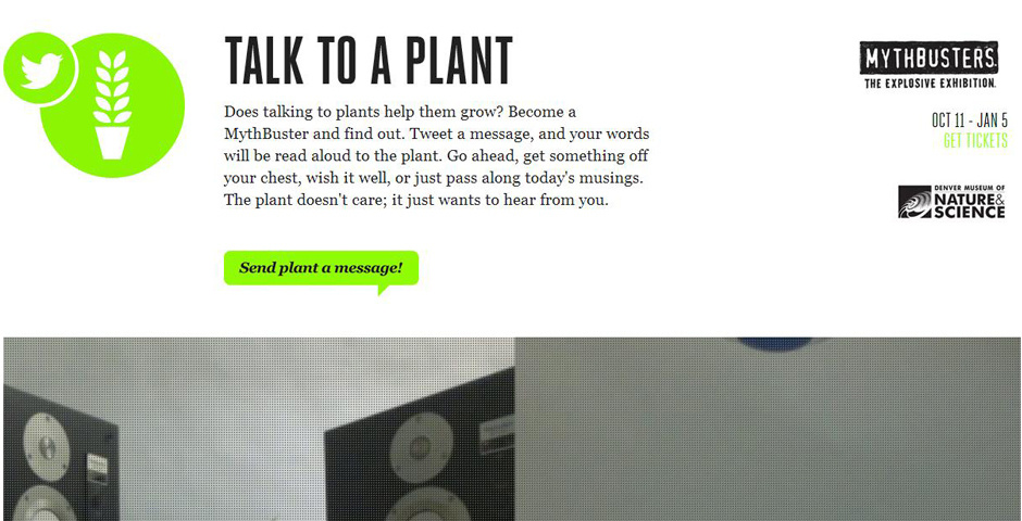 2014 Webby Winner - Talk to a Plant