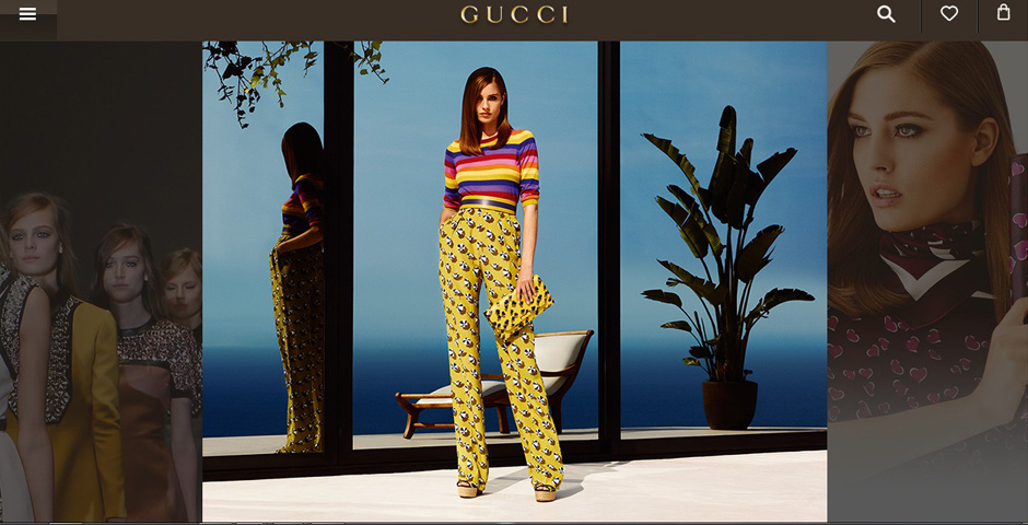 Webby Award Nominee - Gucci Mobile Website
