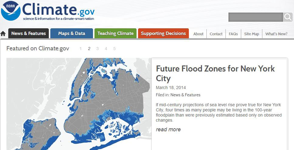 Webby Award Winner - NOAA Climate.gov