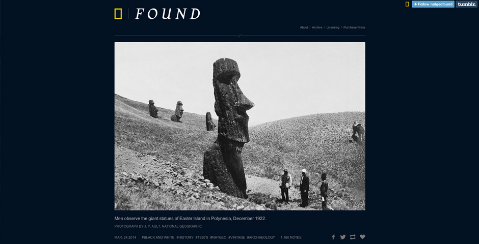 2014 Webby Winner - National Geographic\'s Found
