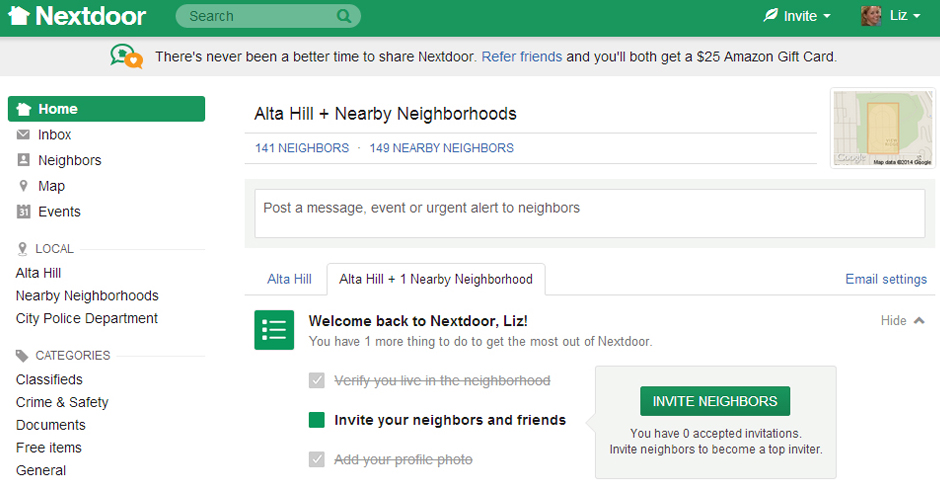 Nominee - Nextdoor, the free and private social network for neighborhoods