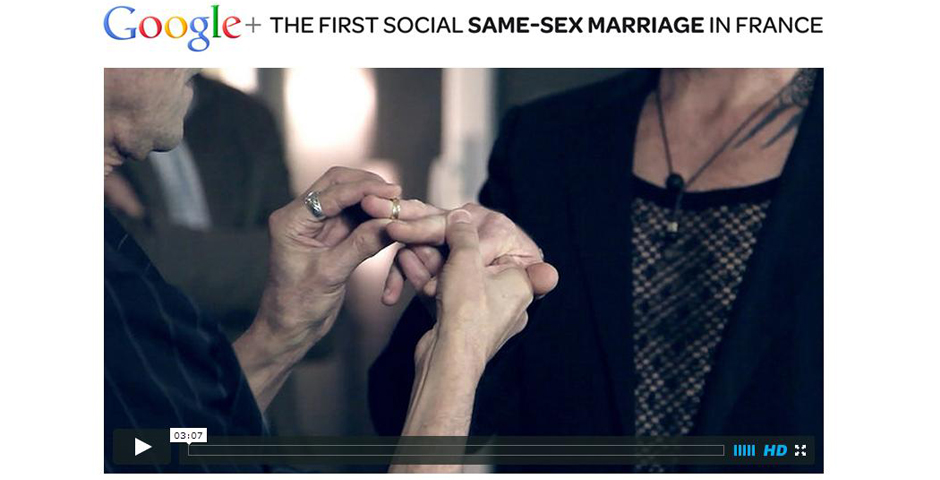 People's Voice / Webby Award Winner - Google+ Same Sex Marriage