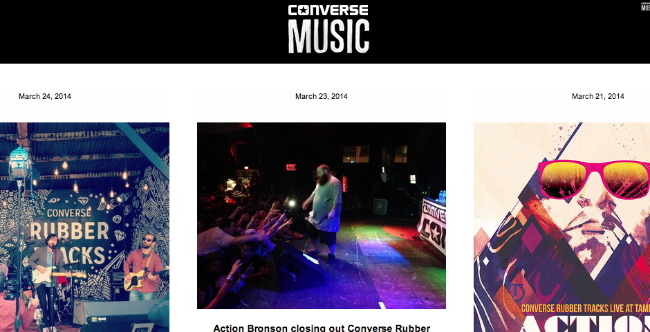 Webby Award Nominee - Converse Music Tumblr