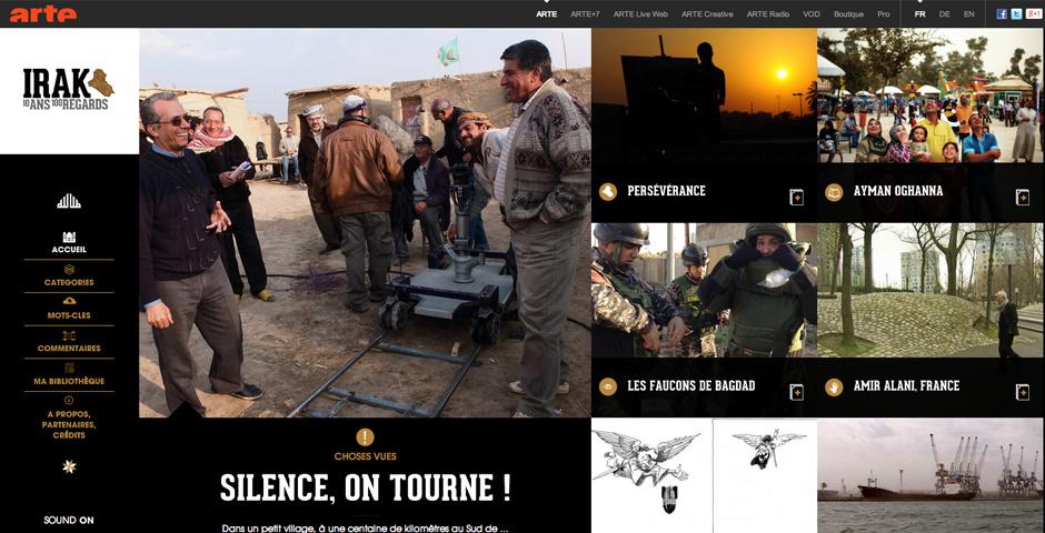 Webby Award Nominee - Irak, 10 years 100 viewpoints