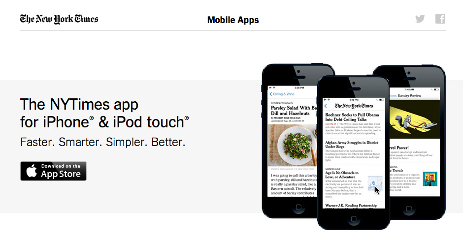 Webby Award Nominee - NYTimes for iPhone App
