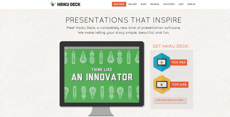 Webby Award Nominee - Haiku Deck