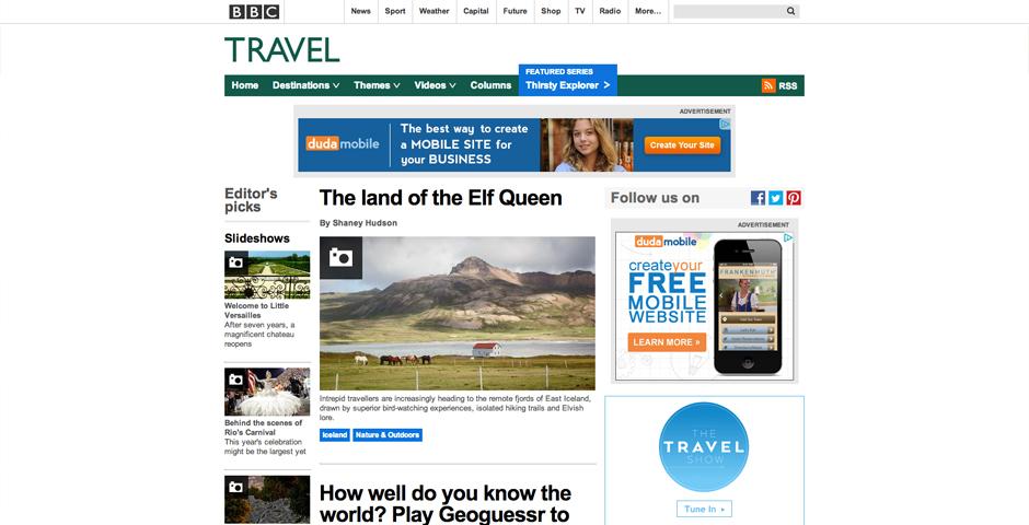 Nominee - BBC Travel