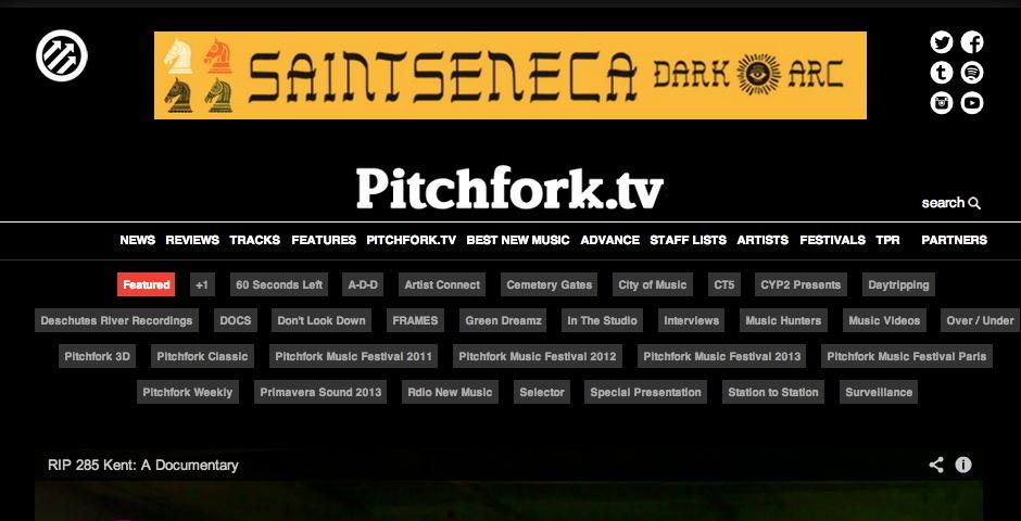 Webby Award Nominee - Pitchfork TV