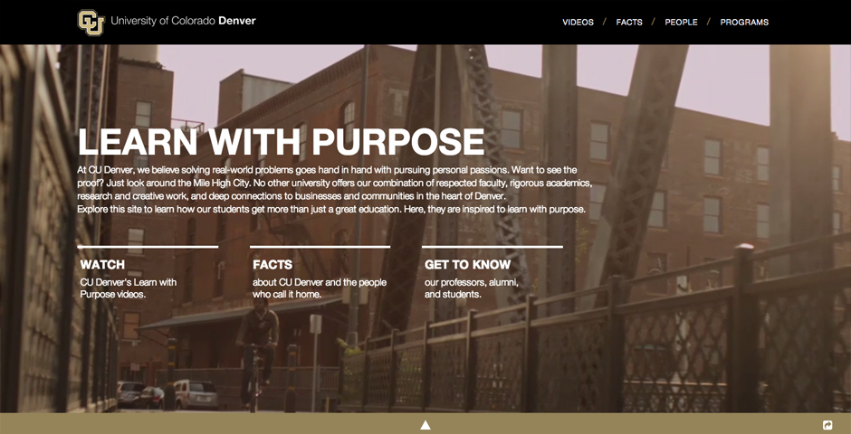 Nominee - CU Denver: Learn With Purpose
