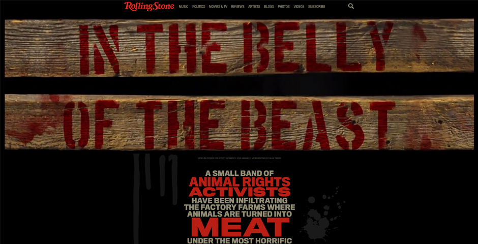 """Nominee - RollingStone.com """"In the Belly of the Beast"""""""
