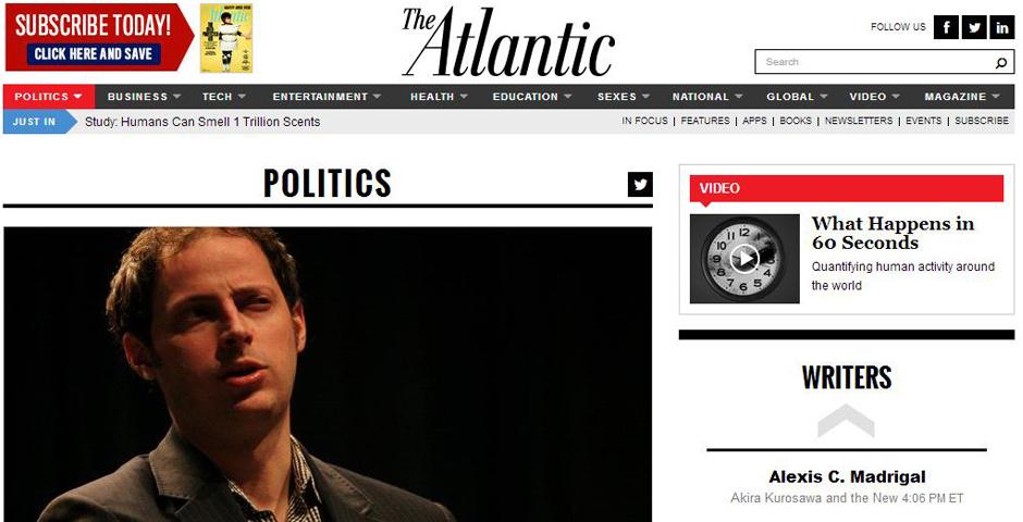2014 Webby Winner - The Atlantic Politics