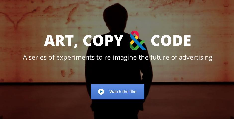 Webby Award Winner - A Google Art, Copy & Code Project: artcopycode.com