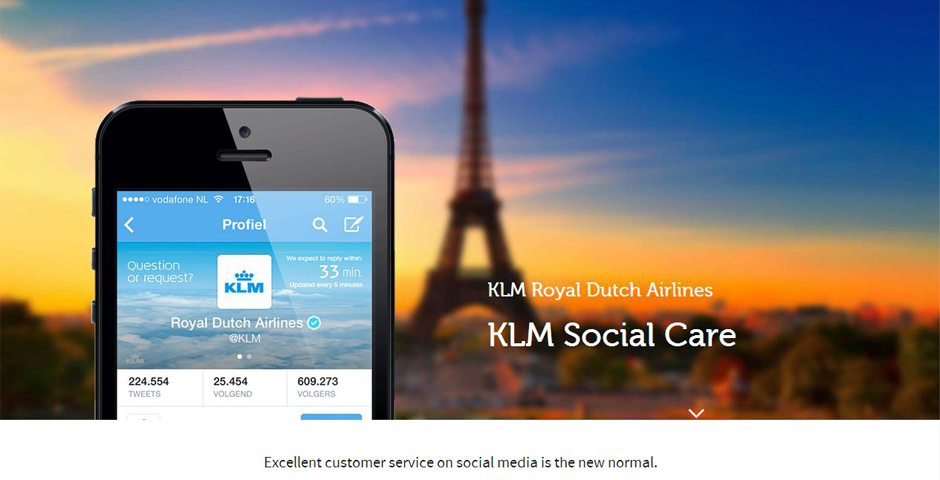 Webby Award Winner - KLM Social Care