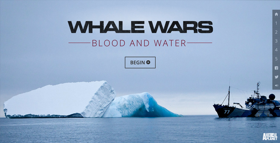 People's Voice / Webby Award Winner - Animal Planet's Whale Wars: Blood and Water