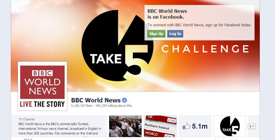Nominee - BBC World News on Facebook