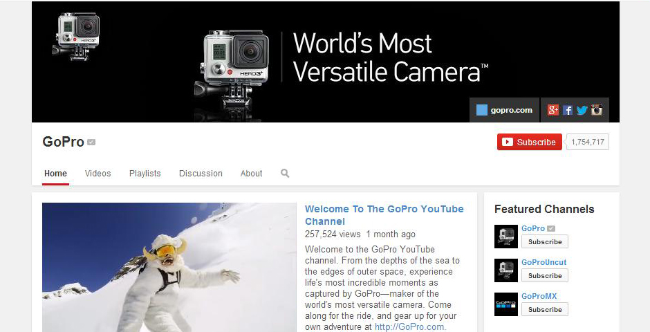 Webby Award Winner - GoPro