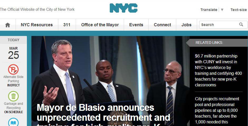 Honoree - The Redesigned NYC.gov