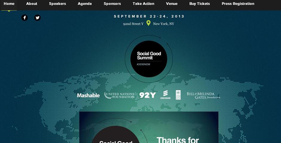 Nominee - Mashable- Social Good Summit