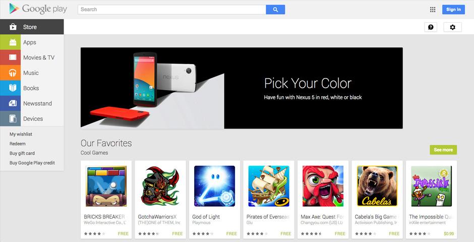 2014 Webby Winner - Google Play