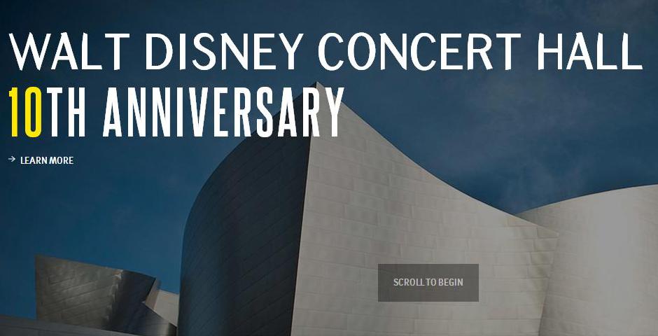 Nominee - Walt Disney Concert Hall 10th Anniversary
