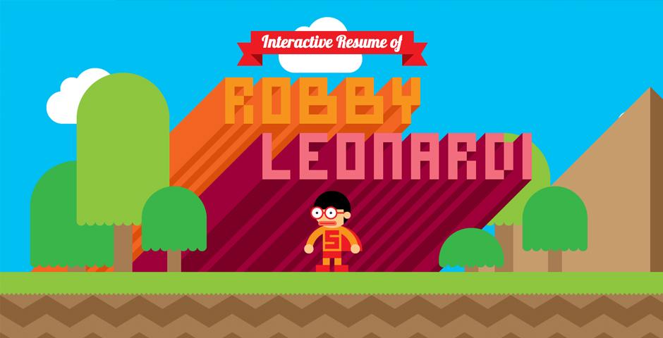Nominee - Robby Leonardi's Interactive Resume