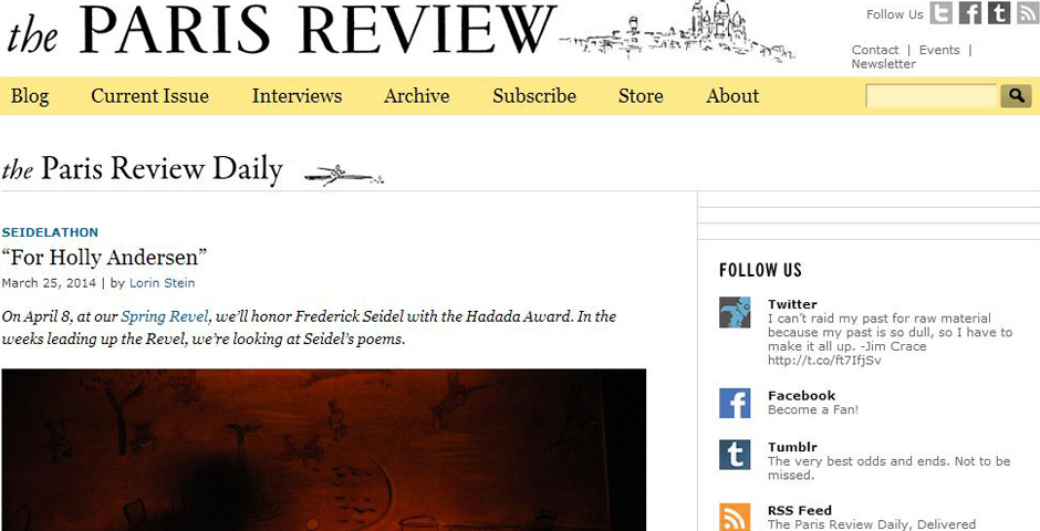 Webby Award Nominee - The Paris Review