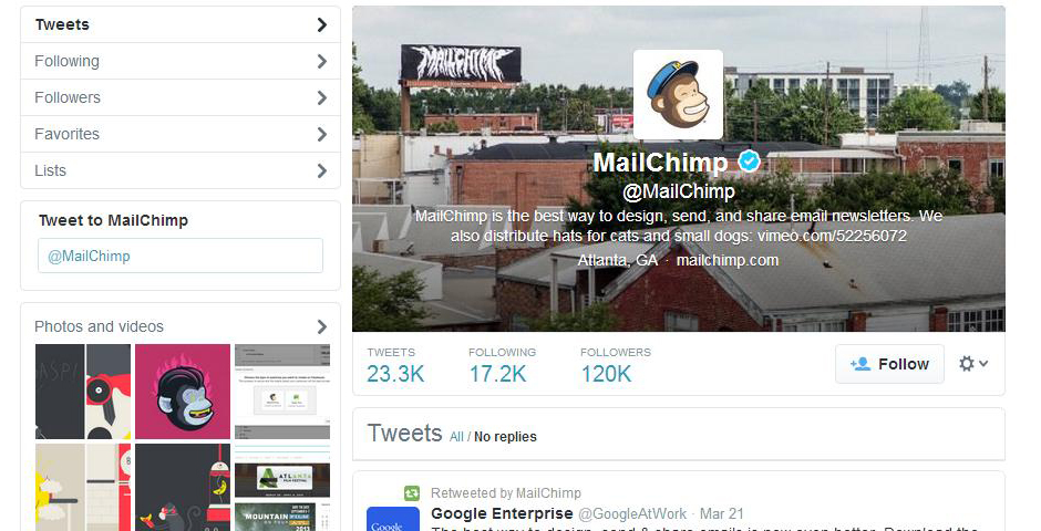 Nominee - MailChimp Twitter Support