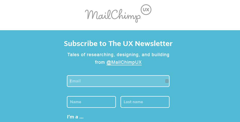 Nominee - MailChimp UX Newsletter