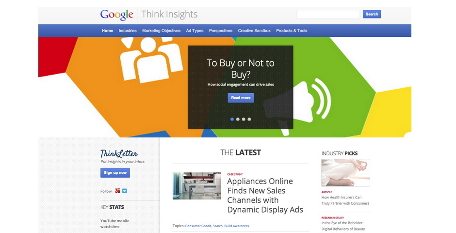 2014 Webby Winner - Google Think Insights