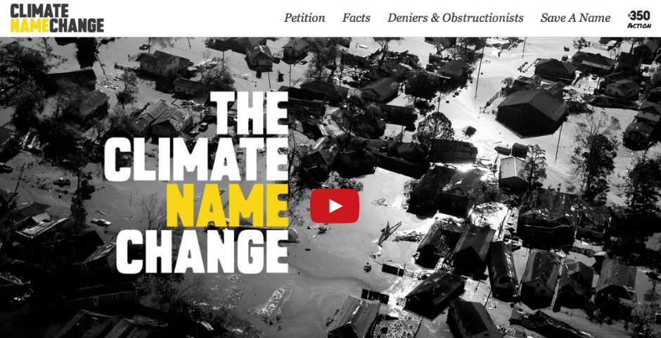 People's Voice / Webby Award Winner - Climate Name Change