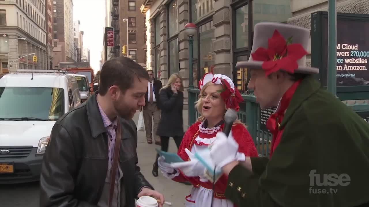 Webby Award Nominee - Billy on the Street: Christmas Carol Ambush with Amy Poehler