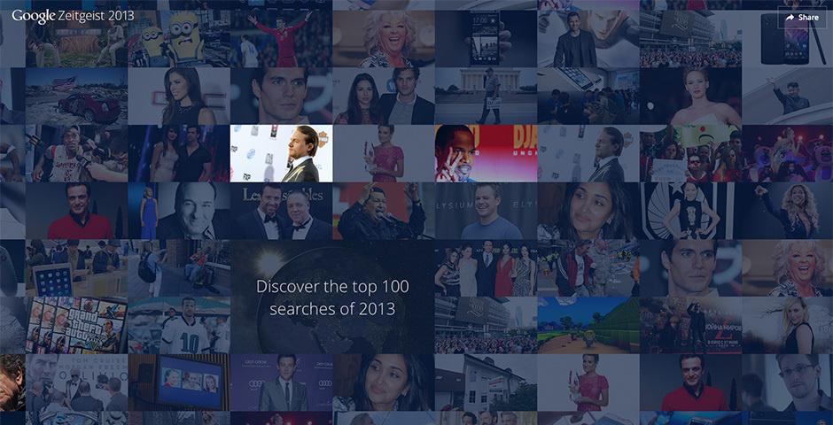 2014 Webby Winner - Google Zeitgeist - Here\'s to 2013