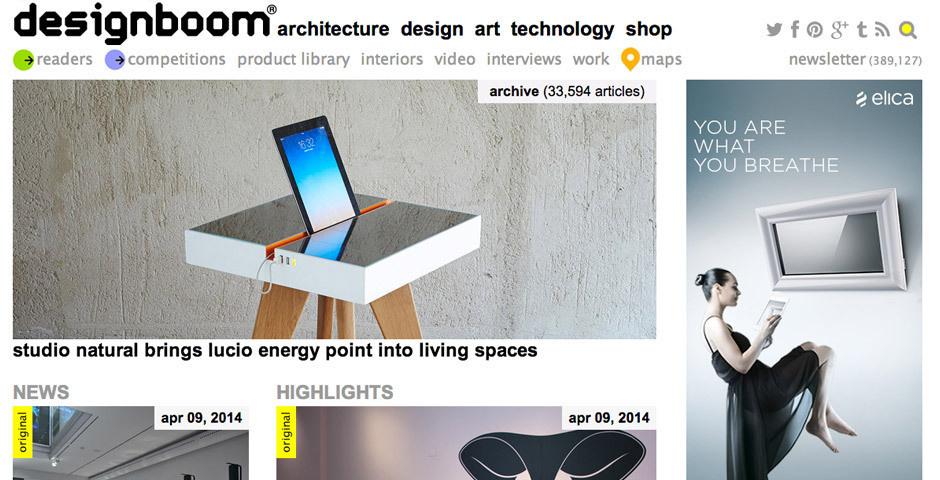 Webby Award Nominee - designboom